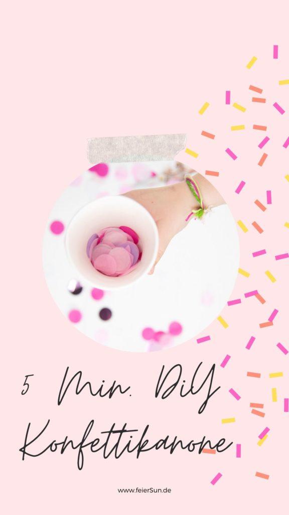 Eine tolle Idee füe Silvester, Hochzeiten & Geburtstagsparties: DIY Konfetti-Kanonen zum Selber Basteln. Sie brauchen nur wenige Minuten und sind der absolute Party-Hit. Denn: Mit Konfetti ist immer alles paletti! #Konfetti #Konfettikanone #Geburtstag #Geburtstagsparty #Idee #DIY