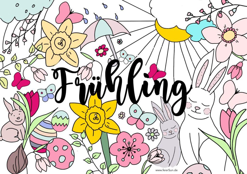 Ausmalbilder für Erwachsene, Ausmalbilder für Kinder und alle, die einfach mal 5 Minuten abschalten möchten. #feierSun #spring #frühling #Ausmalbilder #kostenloserDownload