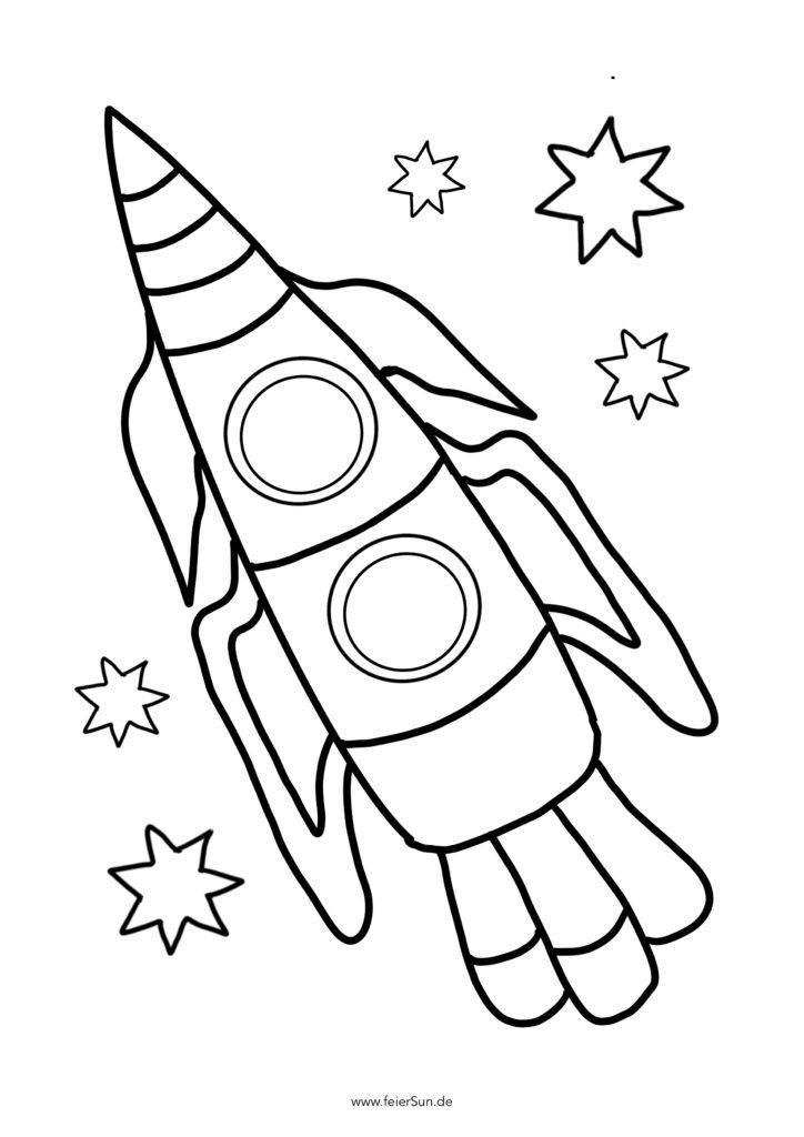 Sichere Dir meine kostenlosen hingezeichneten Ausmalbilder. Gezeichnet von mir und meinem Kind. #feierSun #Rakete #Ausmalbilder #kostenloserDownload