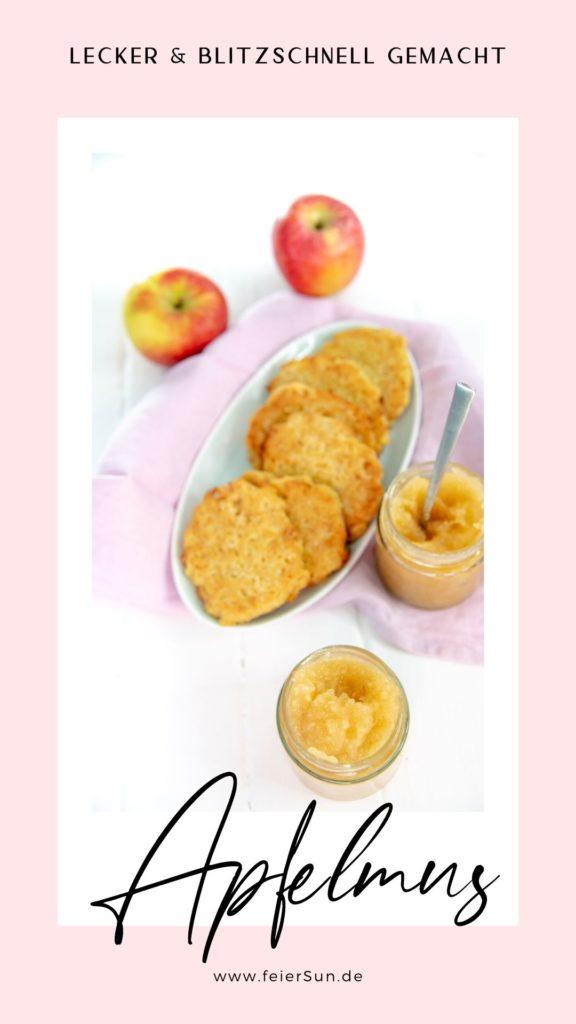 Kaufst du noch fertigen Apfelmus aus dem Glas mit zig Zusatzstoffen und Zutaten die ein richtig gutes Apfelmus gar nicht braucht? Jetzt ist Schluss damit: einfach, lecker, blitzschnell und gesund kommt dein Apfelmus nun auf den Tisch. #feierSun #apfelmus #rezept #selbermachen #einkochen #ohnezucker #haltbar #apfel #einmachen #zuckerfrei