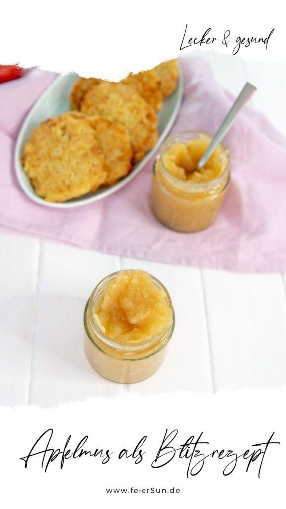 Blitzrezept mit der Prep & Cook Selbstgemachtes Apfelmus ohne Zucker ist ganz einfach einzukochen und ein tolles Rezept, um die Apfelernte zu verwerten. Ich zeige dir, wie du Apfelmus selber machen kannst, und dies ganz ohne Zucker.   #apfelmus #rezept #selbermachen #einkochen #ohnezucker #haltbar #apfel #einmachen