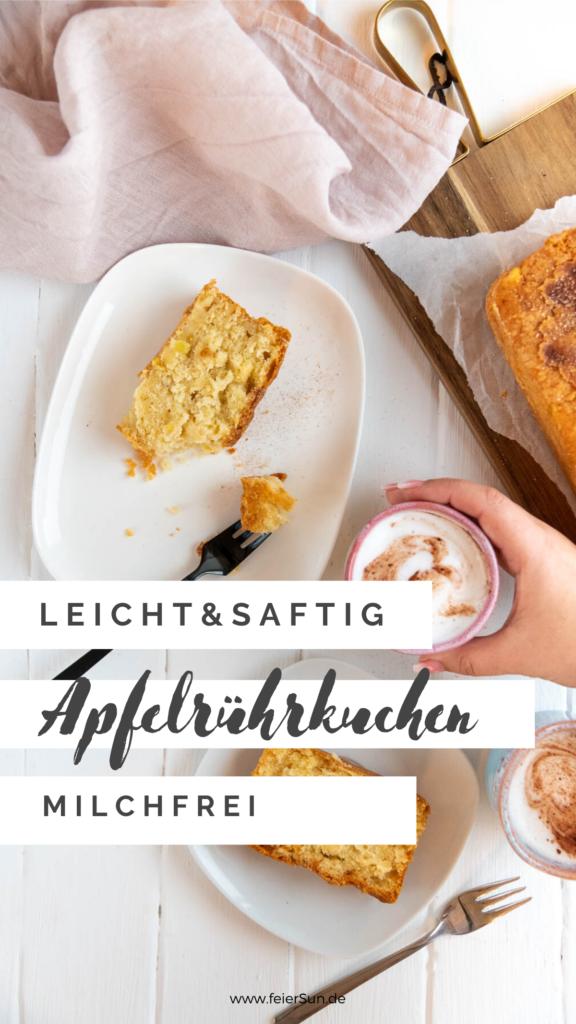 Dieser Apfelrührkuchen ist leicht und saftig und super lecker. Er ist der perfekte Kuchen, nicht nur für Sonntags und du hast bestimmt alle Zutaten für dieses Rezept im Haus. #feierSun #Apfelrührkuchen #Rührkuchen #apfelkuchen