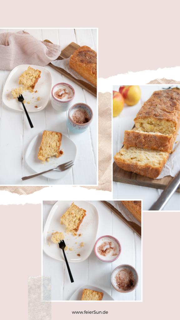 Der perfekte Kuchen zum Mitbringen ist mein einfacher Apfel-Rührkuchen ist so eines. Super einfach, du hast alles dafür im Haus um den Apfelrührkuchen als das perfekte Gastgeschenk für den nächsten Besuch mit zu bringen. #feierSun #Apfelrührkuchen #Rührkuchen #apfelkuchen