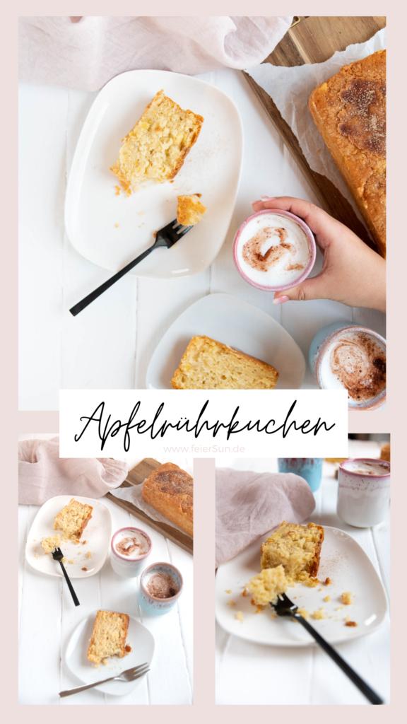 Ich liebe Rezepte die immer funktionieren und der ApfelRührkuchen ist so eines. Super einfach, du hast alles dafür im Haus und garantiert schnell weggefuttert. #feierSun #Apfelrührkuchen #Rührkuchen #apfelkuchen