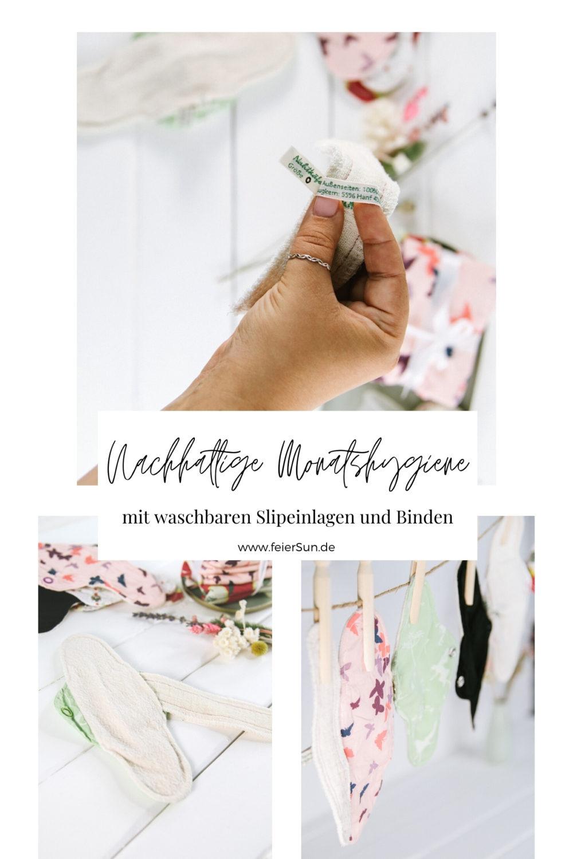 Zero Wast in der Monatshygiene ist total einfach. Mit den waschbaren Slipeinlagen, Stoffbinden und Menstruationscups machst du deine Regel zur natürlichen Sache der Welt.
